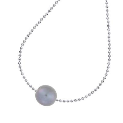 Buy Dower and Hall Sterling Silver 14mm Single Grey Pearl Necklace
