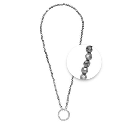 Buy Nikki Lissoni Silver Pyrite Necklace 48cm