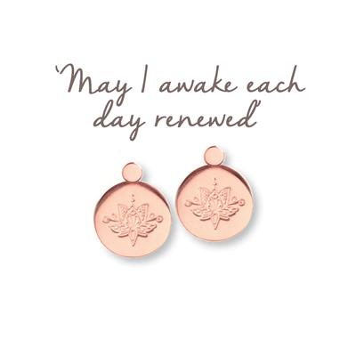 Buy Mantra Lotus Renewed Earrings in Rose Gold