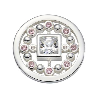 Buy Nikki Lissoni Silver and Pink Mirror Coin 23mm