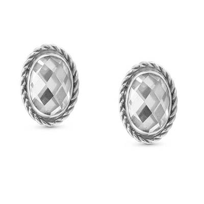 Buy Nomination Silver Oval Clear CZ Studs