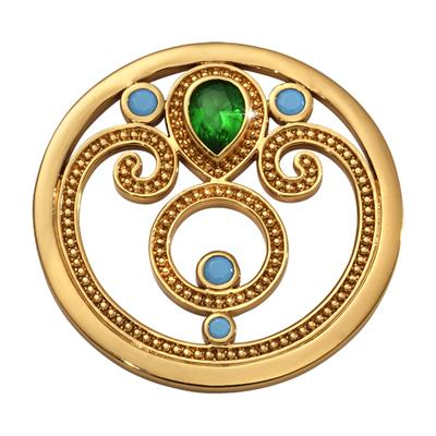 Buy Nikki Lissoni Gold Emerald Dream Coin 33mm