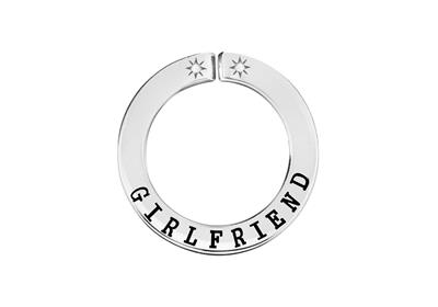 Buy Lily and Lotty Silver 'GIRLFRIEND' Scripted Pendant