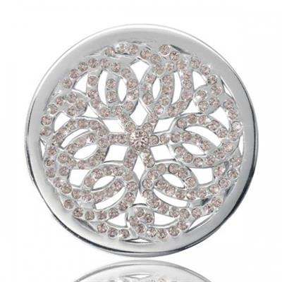 Buy Nikki Lissoni Silver Sparkling Baroque Coin 33mm