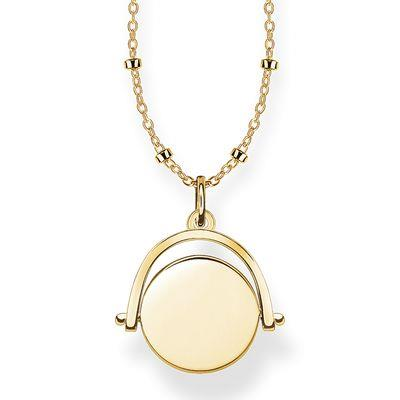 Buy Thomas Sabo Engravable Gold Spinning Coin Necklace