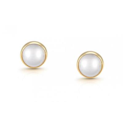 Buy Nomination Gold Round Pearl Studs