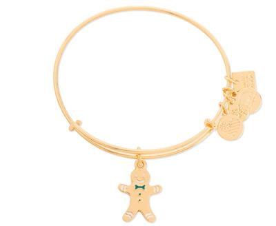 Buy Alex and Ani Gingerbread Man in Shiny Gold