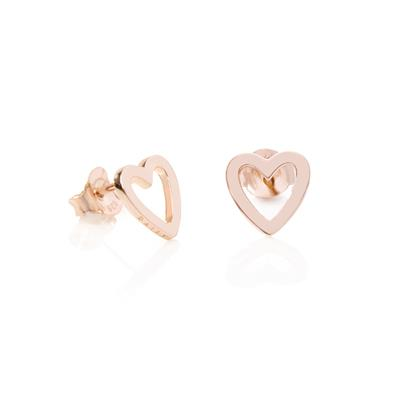 Buy Daisy Open Heart Rose Gold Good Karma Stud Earrings