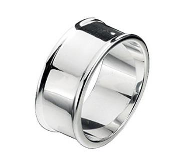 Buy Fred Bennett Silver Wide Band Ring Size 64