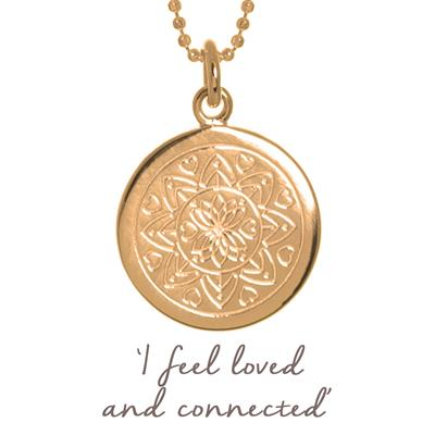 Buy Mantra Love Mandala Necklace in Rose Gold