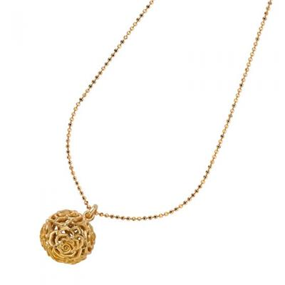 Buy Dower and Hall 18ct Gold Vermeil Wild Rose Sphere Pendant