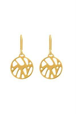 Buy Les Georgettes Gold Perroquet Round Drop Earrings