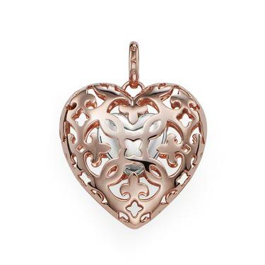 Buy Thomas Sabo Rose Gold Locket with Small Silver Heart
