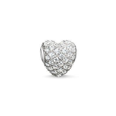 Buy Thomas Sabo White CZ Heart Karma Bead