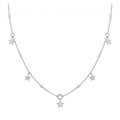 Buy Nomination Silver CZ Multi Star Necklace AW19