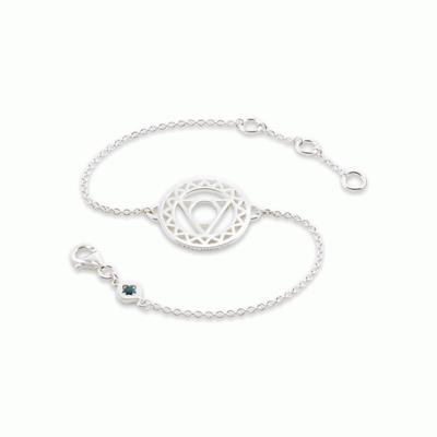 Buy Daisy Throat Chakra Silver Chain Bracelet