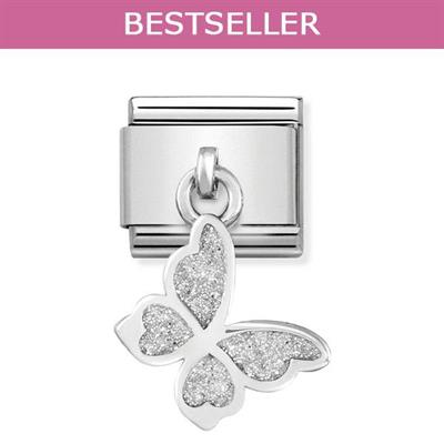 Buy Nomination Hanging Glitter Butterfly Charm