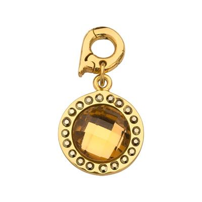 Buy Nikki Lissoni Chic Bronze Mirror Glass Charm Pendant