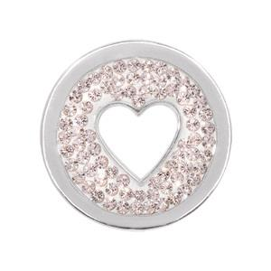 Buy Nikki Lissoni Silver Love Is All Around Small Coin 23mm