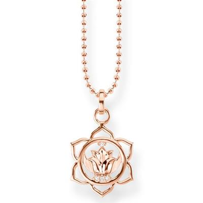 Buy Thomas Sabo Rose Gold Sacral Chakra Necklace with CZ