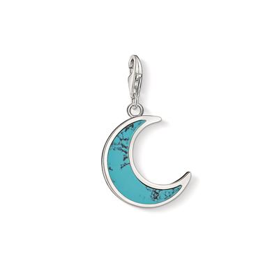 Buy Thomas Sabo Silver Turquoise Crescent Moon Charm