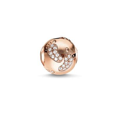 Buy Thomas Sabo Baby Footprint Karma Bead in Rose Gold