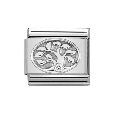 Buy Nomination Silver and CZ Tree of Life Charm