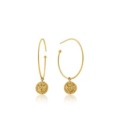 Buy Ania Haie Gold Boreas Hoop Earrings