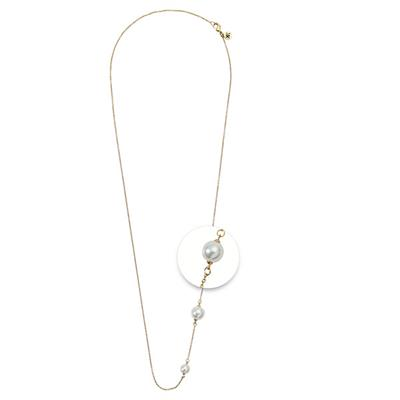 Buy Nikki Lissoni Gold Pearl Necklace 80cm