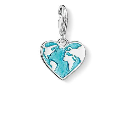 Buy Thomas Sabo Blue Heart Globe Charm