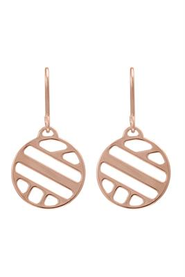 Buy Les Georgettes Rose Gold Ruban Round Drop Earrings