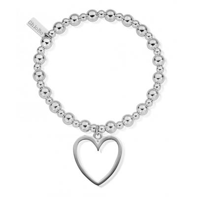 Buy ChloBo Mini Small Ball Open Heart Bracelet