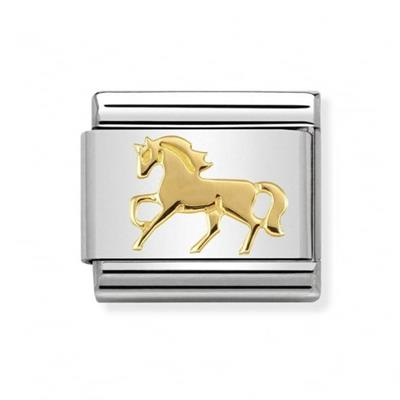 Buy Nomination Gold Galloping Horse Charm