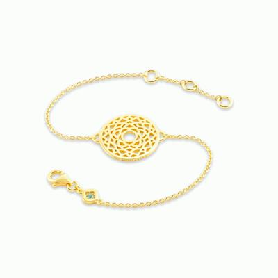 Buy Daisy Crown Chakra Gold Chain Bracelet