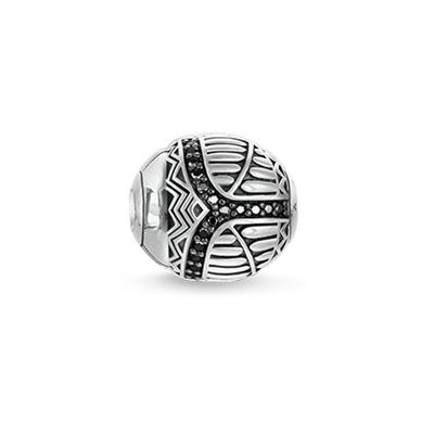 Buy Thomas Sabo Black CZ Scrab Karma Bead Sterling Silver