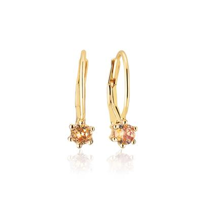 Buy Sif Jakobs Gold Rimini Earrings with Champagne CZ