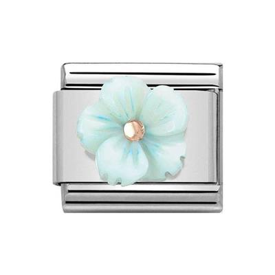 Buy Nomination Classic Rose Gold Symbols Turquoise Mother of Pearl Flower Charm