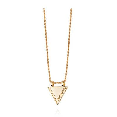 Buy Daisy Artisan Triangle Necklace, Gold-plated Silver