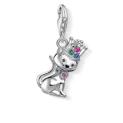 Buy Thomas Sabo Multi CZ Cat With Crown Charm