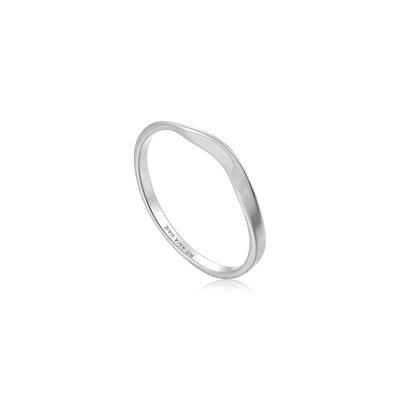 Buy Ania Haie Modern Minimalism Silver Curve Ring 54