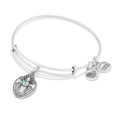 Buy Alex and Ani Crystal Dove in Rafaelian Silver