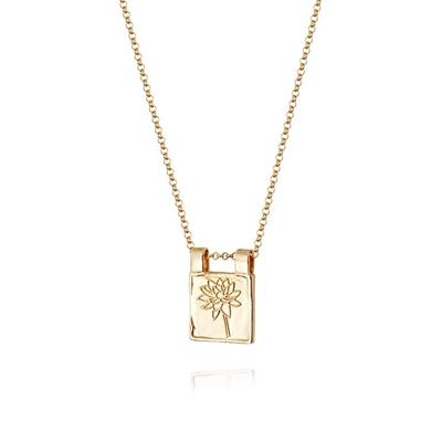 Buy Daisy Gold Waterlily Floriography Necklace