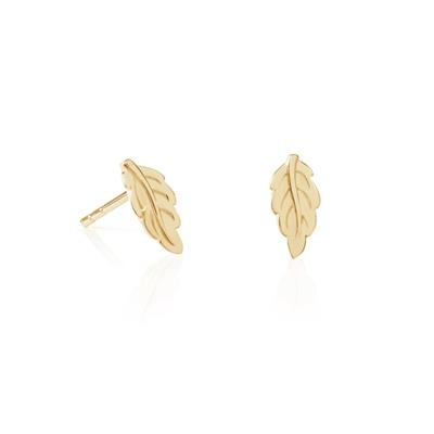Buy Daisy Gold Mulberry Leaf Studs