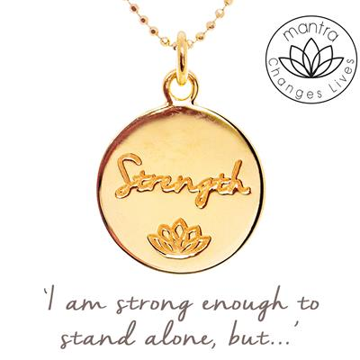 Buy Strength Charity Mantra for MIND in Gold