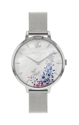 Buy Sara Miller Wisteria Watch, Silver and White