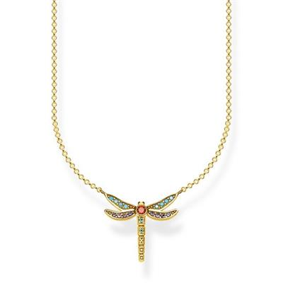 Buy Thomas Sabo Yellow Gold Dragonfly Multistone Necklace