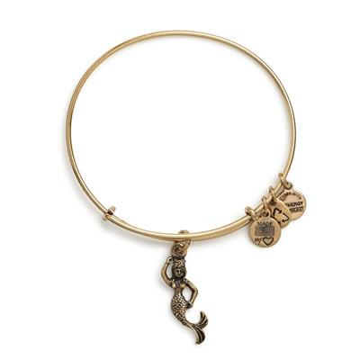 Buy Alex and Ani Mermaid Bangle In Rafaelian Gold