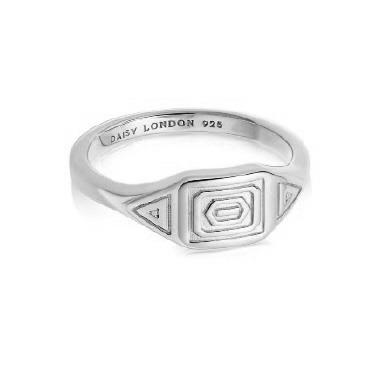 Buy Daisy Artisan Stamped Ring, Sterling Silver, Small