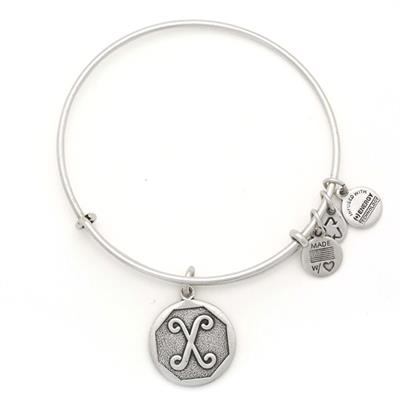 Buy Alex and Ani X Initial Bangle in Rafaelian Silver