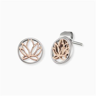 Buy Engelsrufer Rose Gold Lotus Earrings